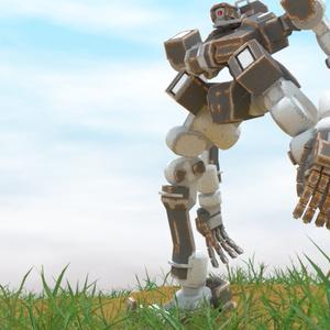 3Dモデル 人型ロボット 「ラスティネイル」Ver1.0