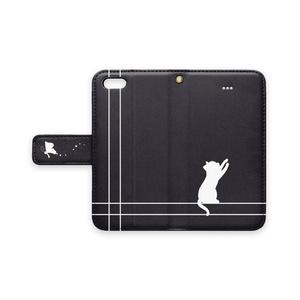 手帳型iPhoneケース(猫)