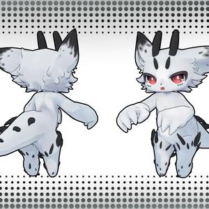 【オリジナル3Dモデル】『キャトラン族の子』Catran