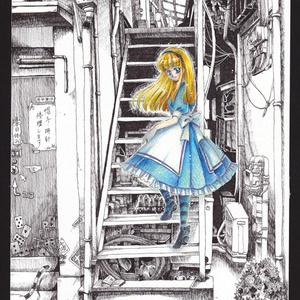 ◆【イラスト原画】少女A -その少女は現実(リアル)か仮想(バーチャル)か