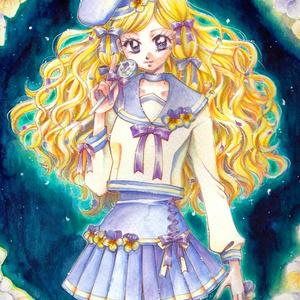 ◆【イラスト原画】エディブルフラワー キャンディ