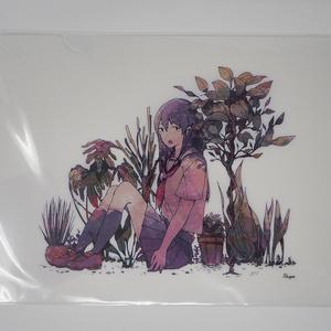 クリアファイル-セーラー服の女の子A