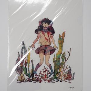 クリアファイル-セーラー服の女の子B