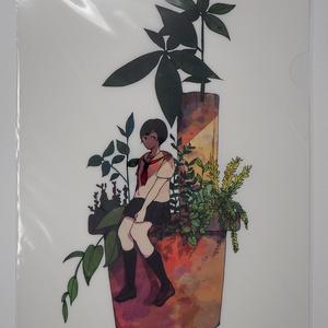 クリアファイル-セーラー服の女の子C