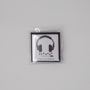 缶バッヂ-ヘッドフォン柄