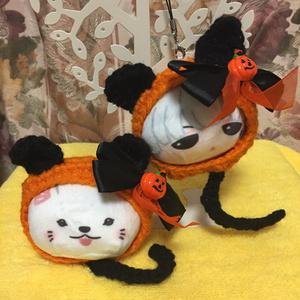 ハロウィン おまんじゅうきぐるみ猫