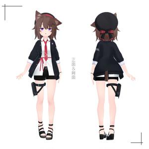 受付嬢さん【オリジナル3Dモデル】