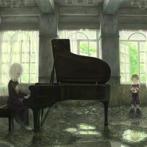 でかポストカード(B5)『廃屋のピアノ教室』