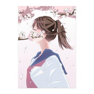 桜の女の子ポスター