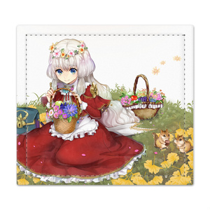 花売り少女の捺印マット