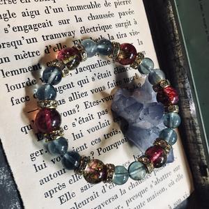 サクラクラッシュ&フローライトの天然石ブレス