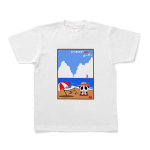 「とりあずビーチ」Tシャツ(白)