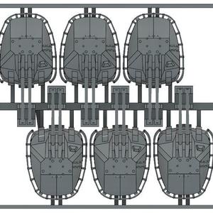 1/700 大日本帝国海軍 98式10cm高角砲(砲塔) 6基セット
