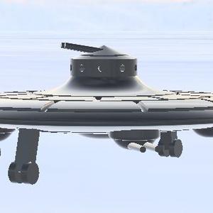 1/700 ドイツ軍 計画機 Haunebu 艦上機アレンジ