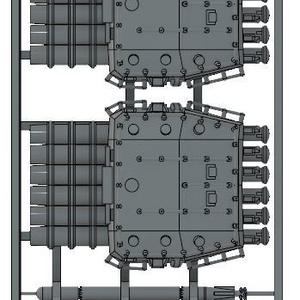1/700 6連装魚雷発射菅
