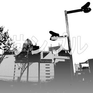 写真加工背景画「新宿東口周辺」4枚組