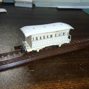 BISAI工房 レーザーカット済ペーパーキット 佐屋駅の客車(尾西鉄道 いろ2)