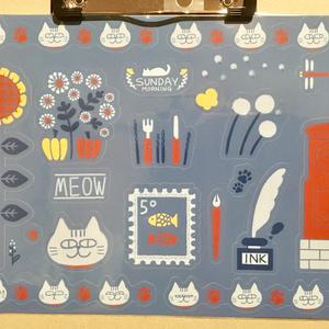 猫の星図リングノート&シールセット