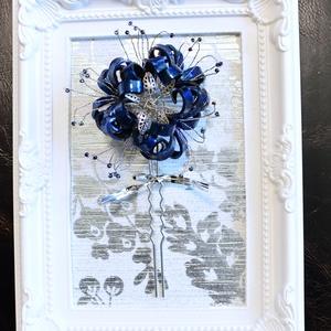 彼岸花かんざし 濃藍の華