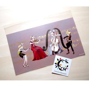 ポストカード「ボカルテット」