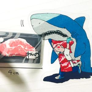 肉屋シール