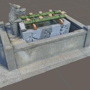 3Dモデル「手水舎」