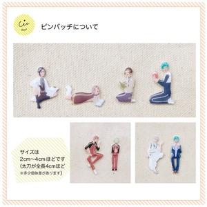 【刀剣乱舞】本丸で内番部隊ピンバッジ〜その2〜
