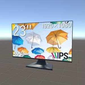23インチ FullHD モニター スリムベゼル PC ディスプレイ