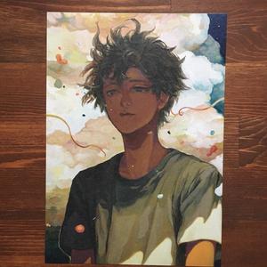 A5サイズ イラストカード 【 深夜 】