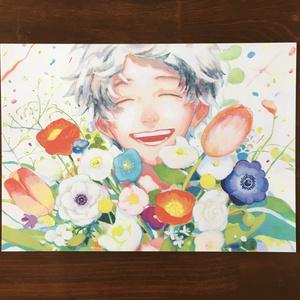 A5サイズ イラストカード 【開花】
