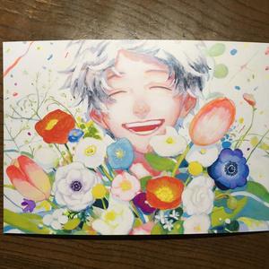 A5サイズ ポストカード 「開花」