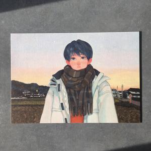 A5イラストカード 【夕景】