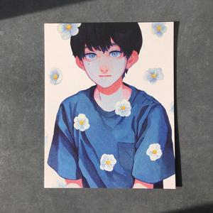 変形イラストカード 【深深】