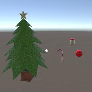 [無料]自分で飾り付けができるクリスマスツリー
