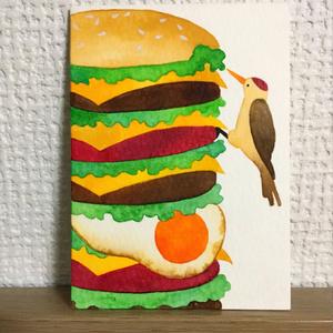 ATC原画 ハンバーガーとキツツキ