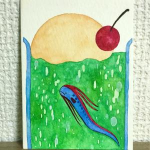 メロンソーダを泳ぐリュウグウノツカイ