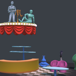 オカマバーの家具【VR向け 3Dモデル】