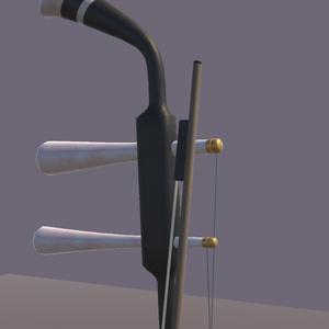 二胡【VR向け 3Dモデル】