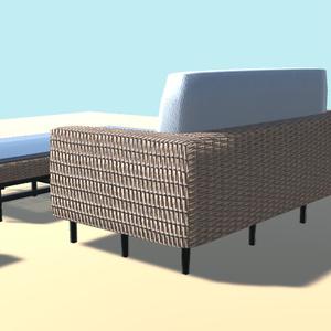 リゾートの家具1【VR向け 3Dモデル】