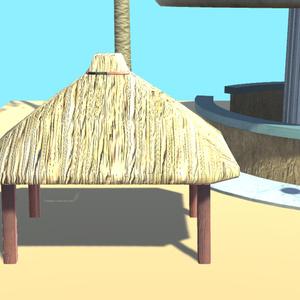 リゾートの家具2【VR向け 3Dモデル】