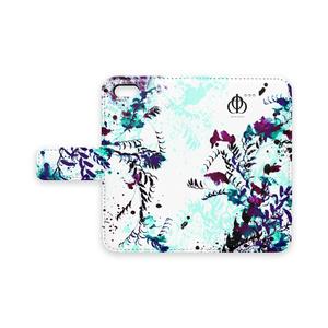 手帳型iPhoneケース(ホワイト)