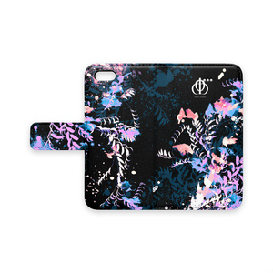手帳型iPhoneケース(ブラック)