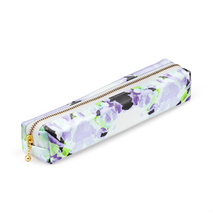 紫x黄緑ペンケース