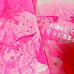 ピンク女子学生ちゃん原画