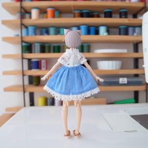 NO.69 ワンピース(ブルー/ピンク) Lサイズ