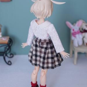 NO.82 スカート (ギンガムチェック茶色)