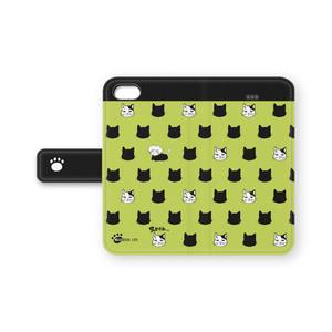 おおねこさまとがりあにゃん手帳型iPhoneケース