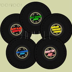 WoofWoofレコード缶バッジ