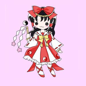 魔法少女☆れいむアクリルキーホルダー