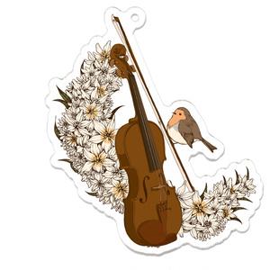 バイオリンアクリルキーホルダー